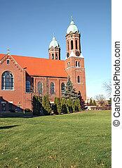 cidade faculdade universitária, vertical, capela