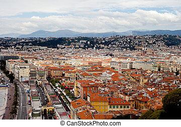 cidade, França, telhados, agradável