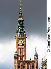 cidade,  Gdansk, corredor