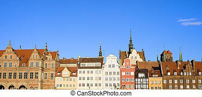 cidade,  Gdansk,  panorama