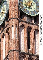 cidade,  Gdansk, Polônia, arquitetura, histórico, corredor