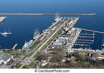 cidade, gdynia, porto
