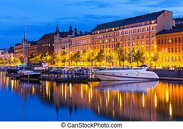 cidade, helsínquia, finland, antigas