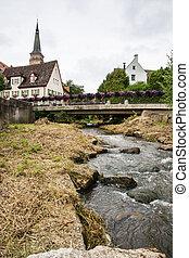 cidade, histórico, centro,  schwabach
