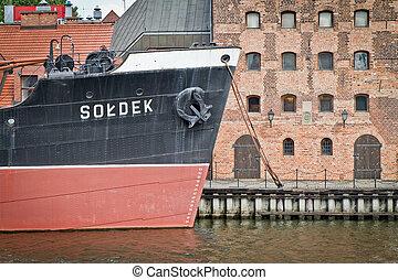 cidade, histórico,  Gdansk