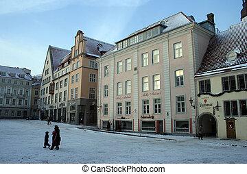 cidade honestamente, antigas, estónia, -, tallinn