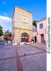 cidade honestamente, clocktower, krk, histórico, principal, vista