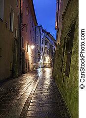cidade, -, innsbruck, ruas, antigas
