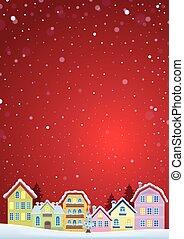 cidade, inverno, imagem, tema, 4, natal