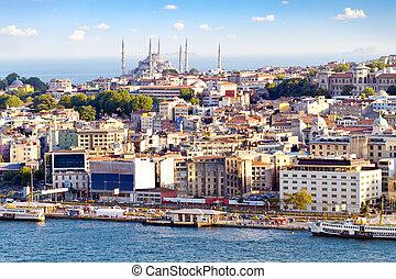 cidade, istambul, aglomerado