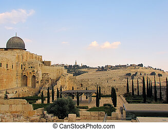cidade, –, jerusalém, antigas