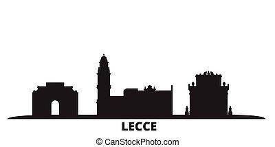 cidade, lecce, isolado, viagem, pretas, itália, skyline,...