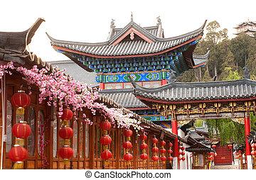 cidade, local, yunnan, histórico, herança, mundo, lijiang