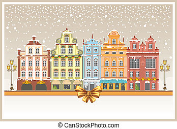 cidade, natal, nevado