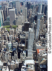 cidade nova iorque, aéreo, vista panoramic