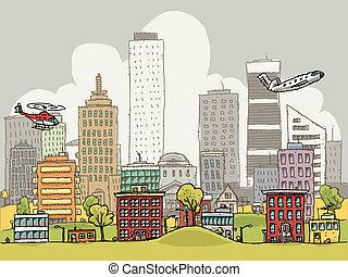 cidade, ocupado