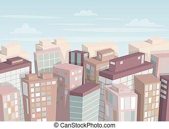 cidade, paisagem.