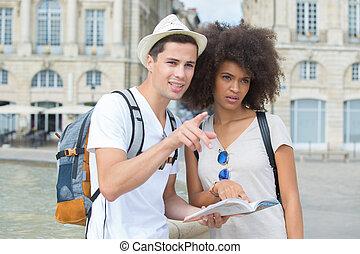 cidade, par, turista