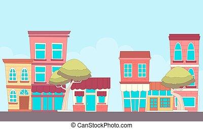 cidade pequena, rua