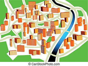 cidade, plano