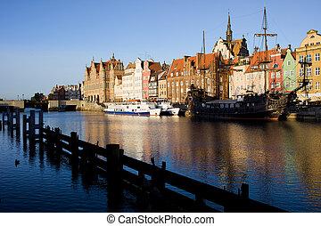 cidade, Polônia,  Gdansk