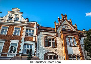 cidade, Polônia,  sopot, vista