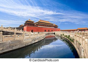 cidade proibida, em, beijing