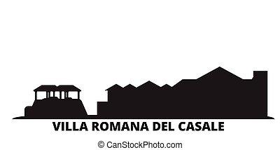 cidade, romana, isolado, vila, viagem, pretas, itália, del,...