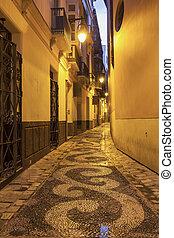 cidade, ruas, antigas, malaga