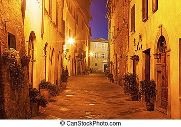 cidade, -, ruas, antigas, piazza