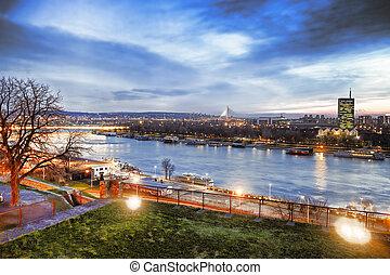 cidade, sérvia, belgrado, capital