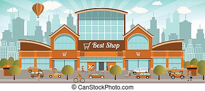 cidade, shopping