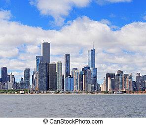 cidade,  Skyline,  Chicago, urbano,  panorama