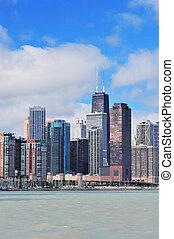 cidade,  Skyline,  Chicago, urbano