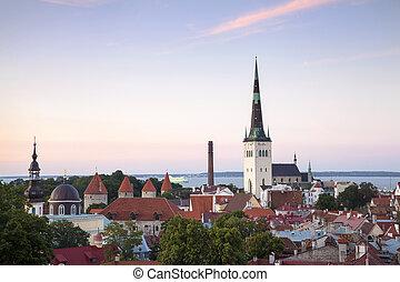 cidade, -, tallinn, estónia, capital