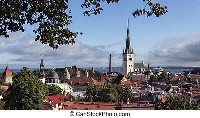 cidade, -, tallinn, estónia