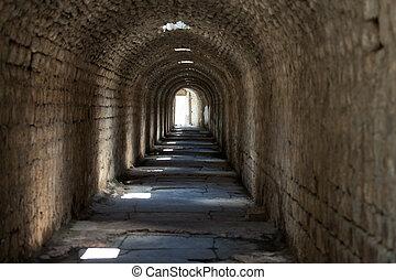 cidade, telesphorus, acesso, subterrâneo, romana, pergamum, ...