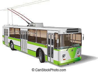 cidade, trolleybus