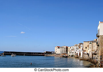 cidade velha, cefalu, em, sicília