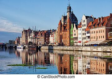 cidade velha, de, gdansk, em, polônia