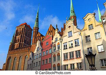 cidade velha, de, gdansk, polônia