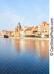 cidade velha, dique, gdansk