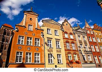 cidade velha, em, gdansk, polônia