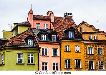 cidade velha, em, varsóvia, poland.