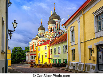 cidade velha, estónia, tallinn, catedral, nevsky, alexander