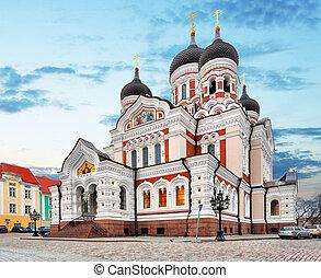 cidade velha, estónia, tallinn, nevsky, catedral, alexander