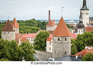 cidade velha, estónia, tallinn, torre, fortaleza
