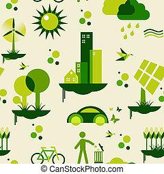 cidade, verde, padrão