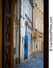 cidade, viena, antigas, europa, rua, áustria