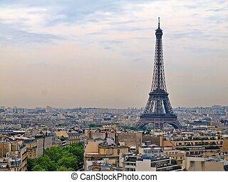 cidades européias, -, paris, cidade, objetos, -, eiffel,...